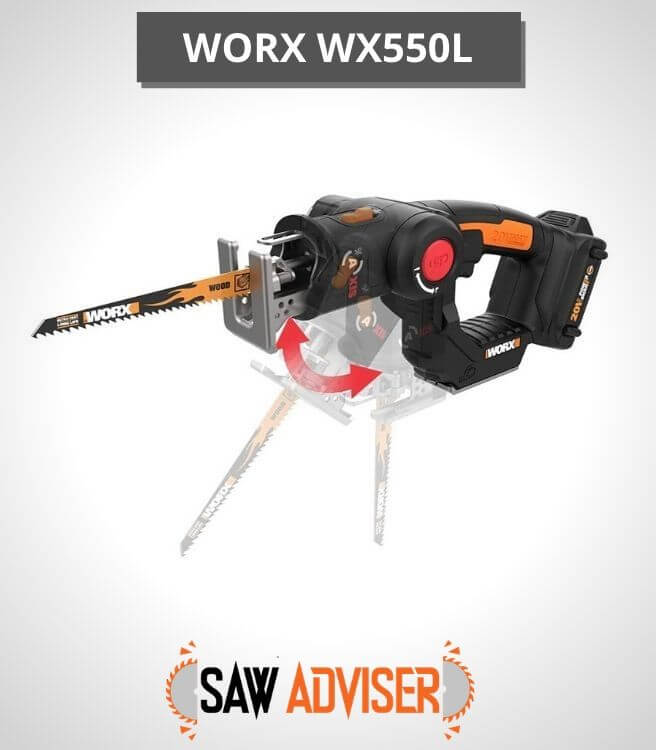 WORX Reciprocating Saw with Orbital Mode - WX550L