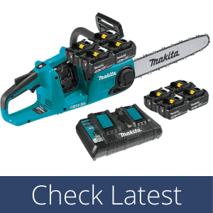 """Makita XCU03PT1 Lithium-Ion Brushless Cordless 14"""" Chain Saw (best chainsaw for firewood)"""