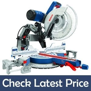 BOSCH 15 Amp 12 Inch Corded Dual-Bevel Sliding Glide Best Miter Saw for Crown Molding
